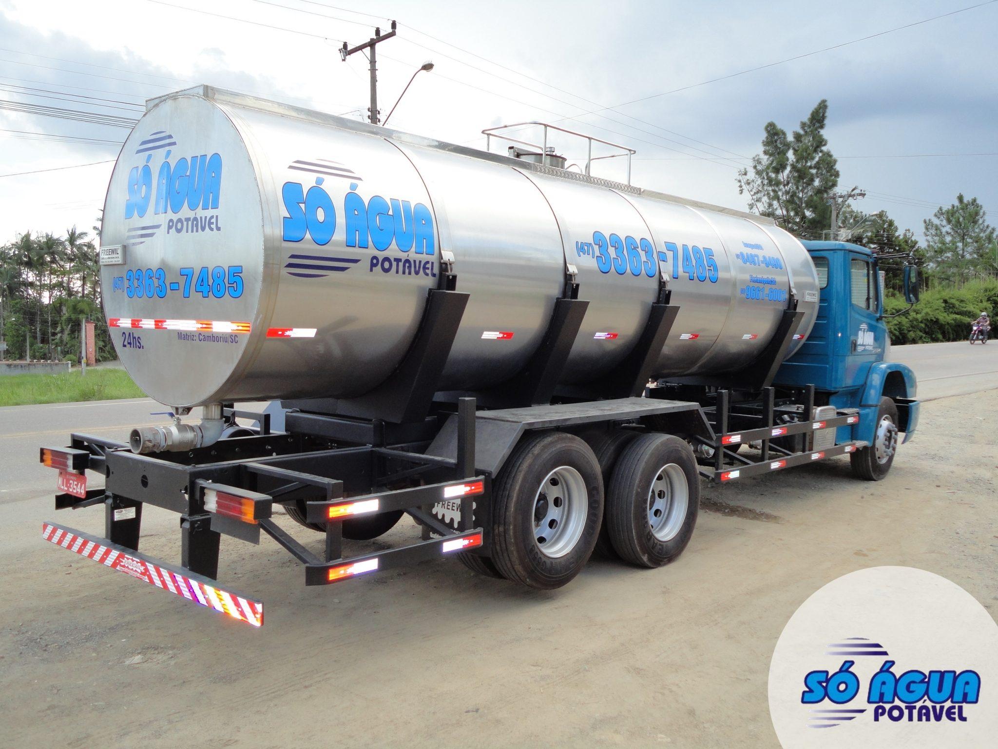 Caminhão Pipa de água tanque inox